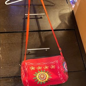 Colorful over the shoulder purse